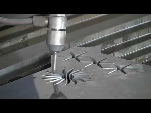 Does water can cut thick steel plate