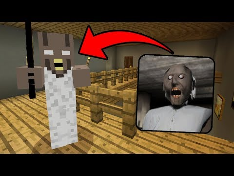 I FOUND GRANNY in Minecraft Pocket Edition (Granny Horror House in Minecraft PE)