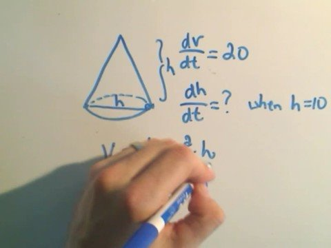 Related Rates #2 Using Cones