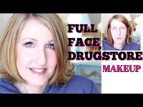 OVER 50     FULL FACE DRUGSTORE MAKEUP    AFFORDABLE MAKEUP