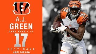 #17: A.J. Green (WR, Bengals) | Top 100 Players of 2017 | NFL