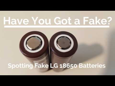 How to spot fake LG 18650 Batteries