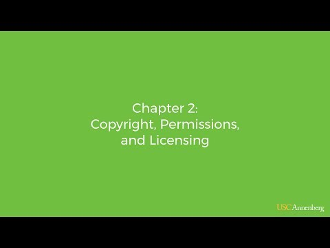 Chapter 2: Copyright, Permissions, and Licensing