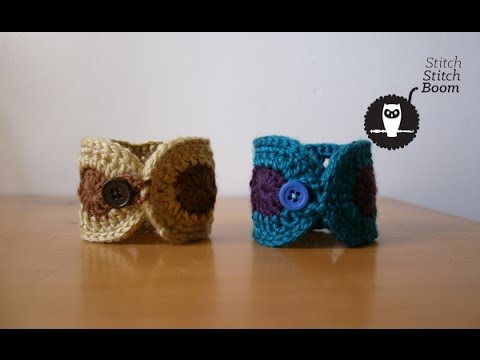 Crochet Tutorial: Boho Inspired Wrist Cuff
