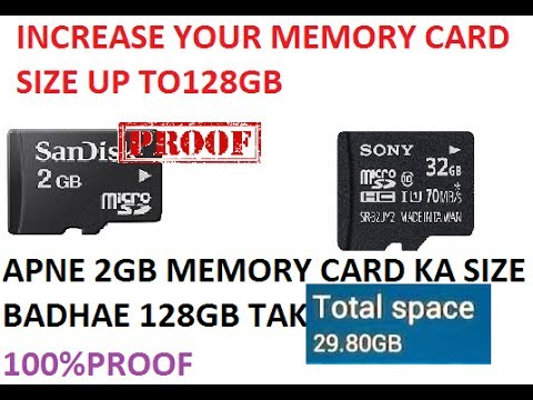 INCREASE SD CARD STORAGE-WITHOUT ROOT INCEASE YOUR SD CARD STORAGE 100% PROOF