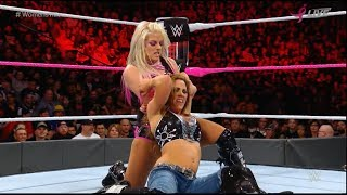 #WWETLC 2017 Alexa Bliss vs. Mickie James #WOMENSTITLE WWE TLC: Tables Ladders and Chairs