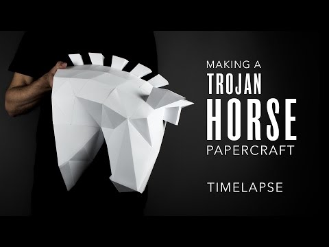 Papercraft Horse Trophy Head: Making A Low Poly Trojan Horse | Kablackout 3D Paper Templates