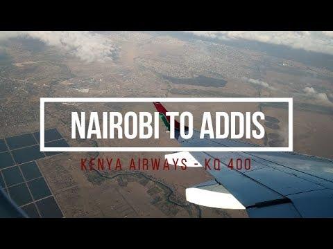 Nairobi (NBO) to Addis Ababa (ADD) | Kenya Airways KQ 400 | Economy