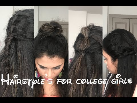 Easy and cool hairstyles for College going girls || Ready in less than a minute