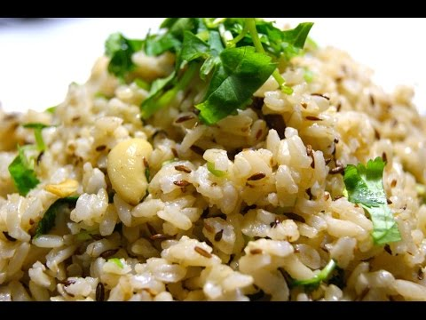 Jeera rice with brown rice or white rice-Cumin flavored rice