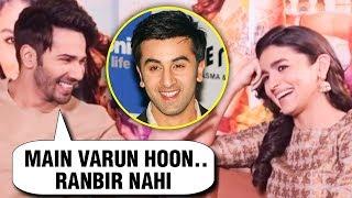 Alia Bhatt's BLUNDER,  Calls Varun Dhawan 'Ranbir Kapoor'   Kalank Interview