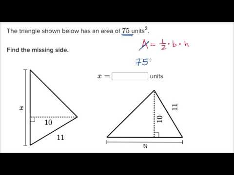 Triangle missing side example