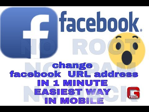 How to change  facebook URL address on mobile (no root)