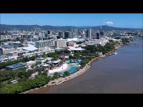 BRISBANE CITY 2017 AUSTRALIA - DJI SPARK DRONE