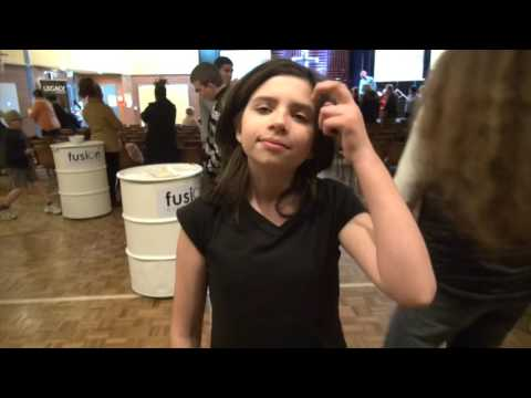 Girl sees without glasses after eye Astigmatism healing   John Mellor Healing Ministry