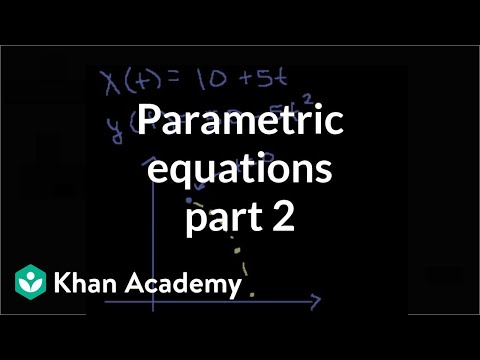 Parametric equations 2 | Parametric equations and polar coordinates | Precalculus | Khan Academy