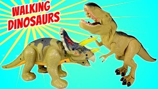 Dinosaur Walking Triceratops Light and Sound - Dinosaurs Toys For Kids