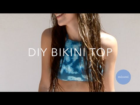 DIY tumblr bikini halter top from bikini bottoms