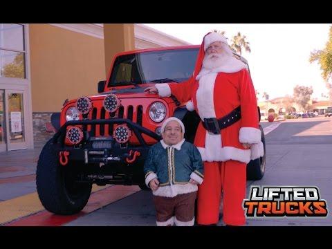 Santa and his elf visit Lifted Trucks in Phoenix, Arizona