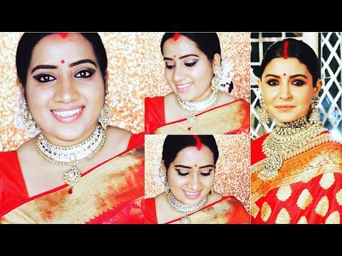 ANUSHKA SHARMA WEDDING RECEPTION LOOK   MAKEUP & HAIRSTYLE   IN HINDI