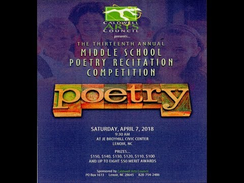 Middle School Poetry Recitation Competition 2018