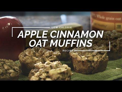 Apple Cinnamon Oat Muffins | Flourless Muffin Recipe