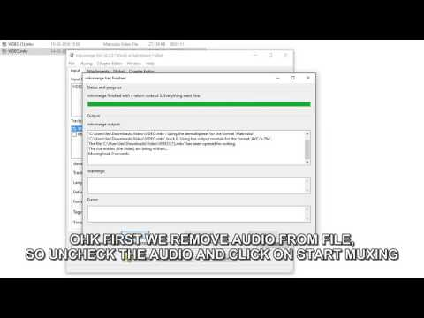 HOW TO ADD, REMOVE AUDIO VIDEO WITH MKVMERGE MKVTOOLNIX
