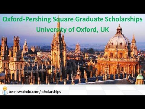 UK - University of Oxford Pershing Square Graduate Scholarship #20150109
