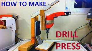 how to make drill press stand homemade using  monitor stand step by step with strategic ideas