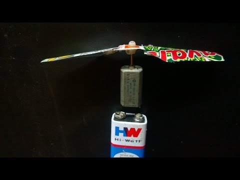How to Join Home Made Blades with DC Motor in a Helicoter
