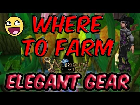 Wizard101: Where To Farm Elegant Gear! | Fire, Storm, Ice, Death Elegant Gear! Heather The Wizard