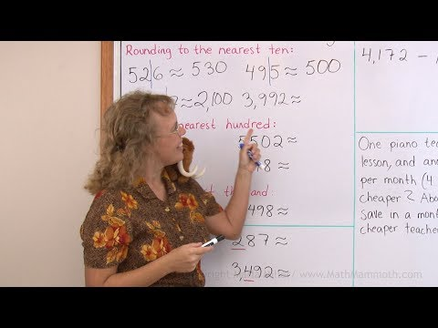 Rounding 4-digit numbers - 4th grade math