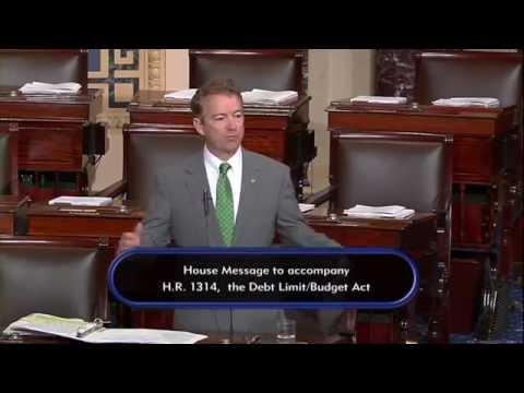 Sen. Paul Speaks Against Budget Deal After Senate Votes to End His Filibuster - October 30, 2015