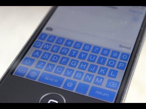 How to Make your Keyboard Color Blue in iOS 7