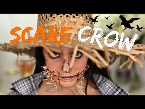 Creepy Scarecrow Halloween Makeup Tutorial! DIY Costume