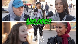 COLLEGE STUDENTS TRY TO GUESS THE VALUE OF A $20,000 HYPEBEAST OUTFIT! CAN THEY!?