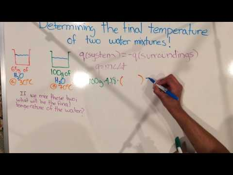 21 Final Temperature: Mixture of Two Water Samples