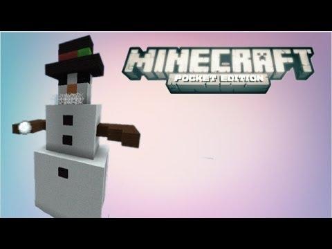 Minecraft Pocket Edition Snow Man