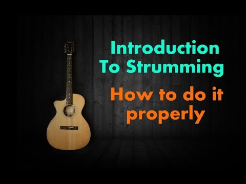 Introduction to strumming - HOw to do proper strumming hindi basic beginner's guitar lesson