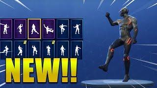 All New Skins Emotes Dances Season 4 Fortnite Battle