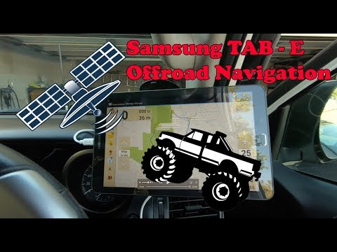 Killer home made Samsung TAB-E Offroad GPS Navigation