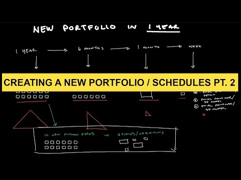 Make a New Concept Art Portfolio / Schedules part 2