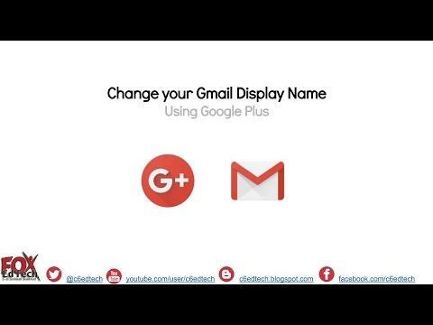 Change Gmail Display Name using Google Plus