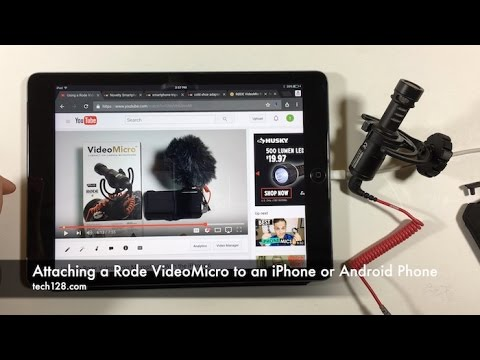Attaching a Rode VideoMicro to an iPhone or Android Phone