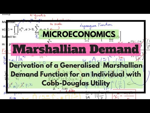 Derivation of a Generalised (n-good) Marshallian Demand Function from Utility Function