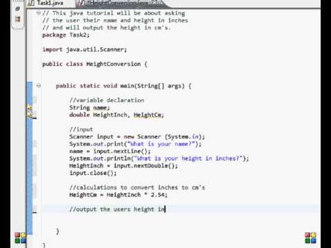 Java Programming Input / output Tasks. Height Conversion.