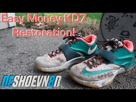 How To Clean KD7's With Reshoevn8r! Easy Money KDVII Restoration!