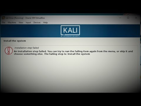 [SOLVED] Kali Linux, An installation step failed...