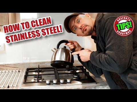 HOW TO CLEAN STAINLESS STEEL With Baby Oil / Mineral Oil - GHTL#14 [95]