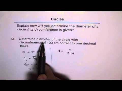 Calculate Diameter from Circumference of Circle